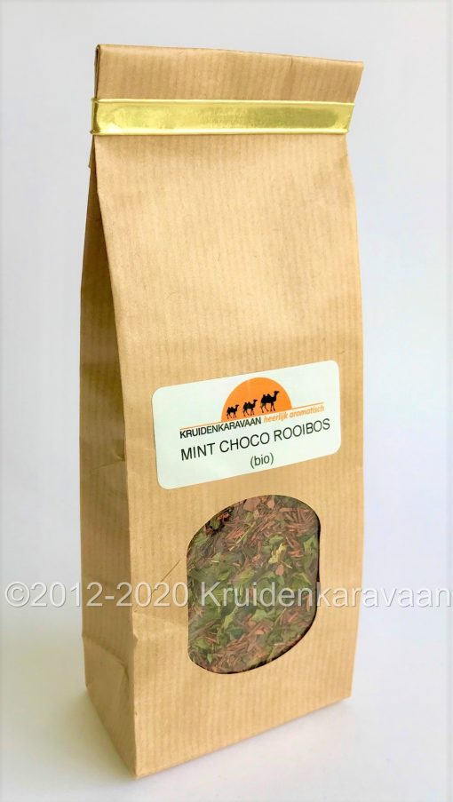 Mint choco bio rooibos verpakking