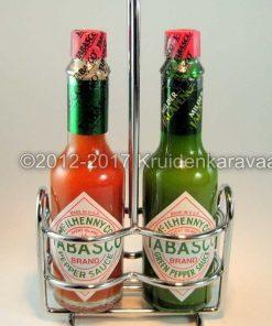 Tabasco caddy - Rvs Tabascohouder met Tabasco online kopen